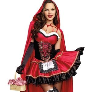 Little red riding hood costume with skirt